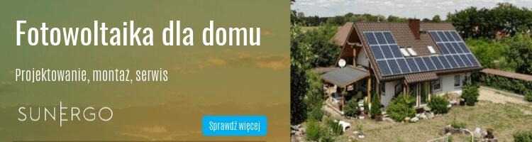 Fotowoltaika dla domu - SunErgo
